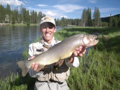Cutthroat trout géante de la Yellowstone